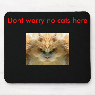 scary-cat, Dont worry no cats here Mouse Pad