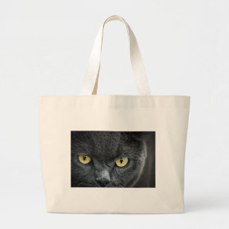 Scary Cat Eyes Canvas Bags