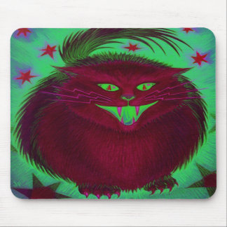 Scary Cat Red  mousepad vertical