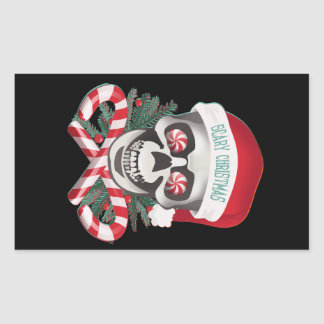 Scary Christmas Rectangle Sticker