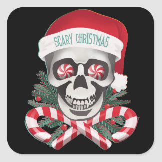 Scary Christmas Square Sticker