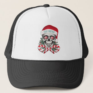 Scary Christmas Trucker Hat