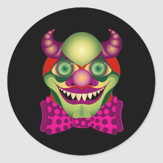 Scary Clown awesomely horrific and cute sticker