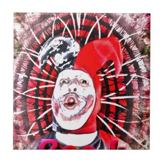 scary clown ceramic tile