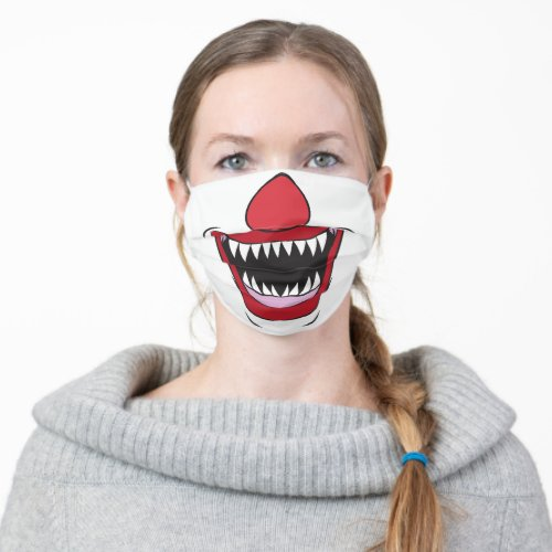 Scary Clown Cloth Face Mask