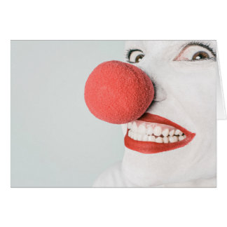 Scary Clown Face - Blank Greeting Card
