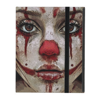 Scary clown girl iPad cases