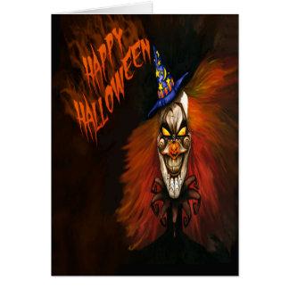 Scary Clown Halloween Card