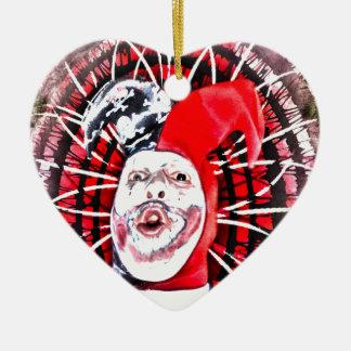 scary clown christmas tree ornament