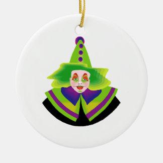 Scary Clown Christmas Ornament