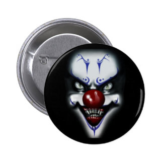 Scary Clown Pinback Button