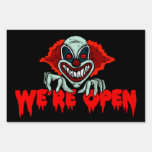 Scary Clown We're Open - Halloween Yard Sign