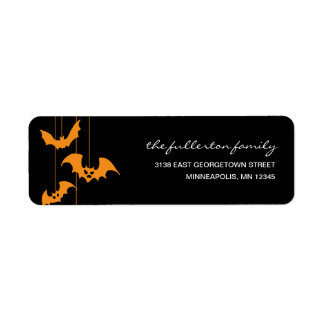 Scary Creatures Halloween Address Label Labels