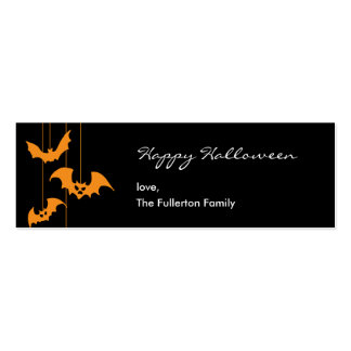 Scary Creatures Halloween Gift Tag Business Cards