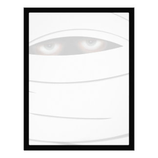 Scary Creepy Halloween Mummy Personalized Letterhead