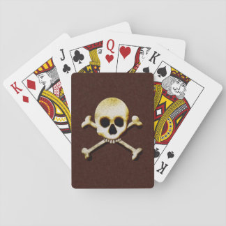 Scary Creepy Skull And Crossbones Halloween Games Poker Cards