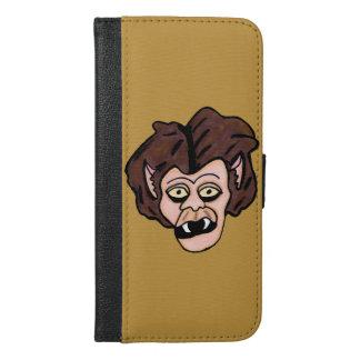 Scary Creepy Werewolf Head Fangs Cartoon Wolf Man iPhone 6/6s Plus Wallet Case