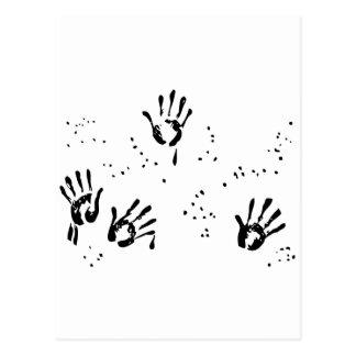 scary dark hands postcard