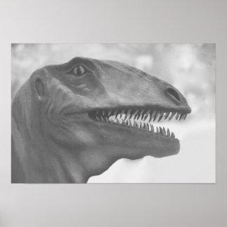 Scary Dinosaur Poster