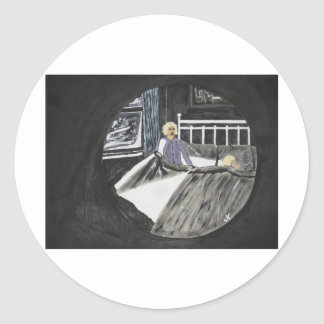 Scary Dreams Classic Round Sticker
