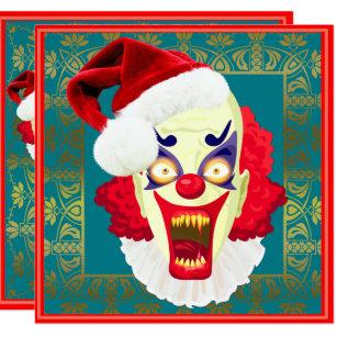 scary clown invitations zazzle