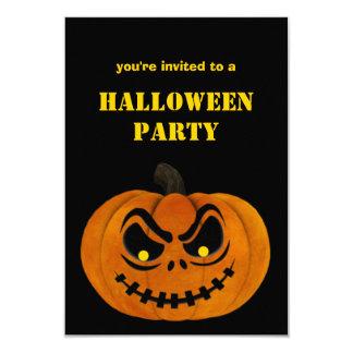 Scary Evil Pumpkin Halloween Party Invitations