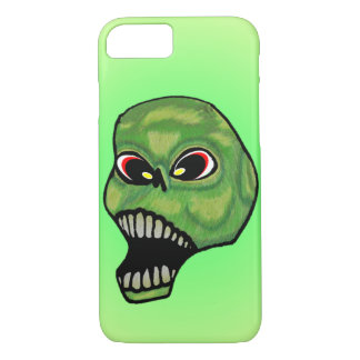 Scary Evil Screaming Green Skull iPhone 8/7 Case