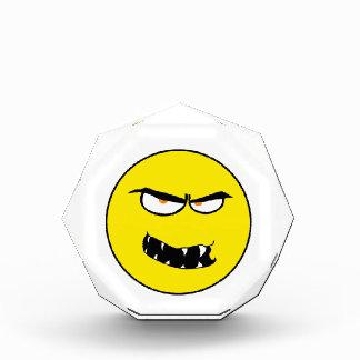 Scary Evil Smiley Face Acrylic Award