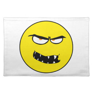 Scary Evil Smiley Face Cloth Placemat