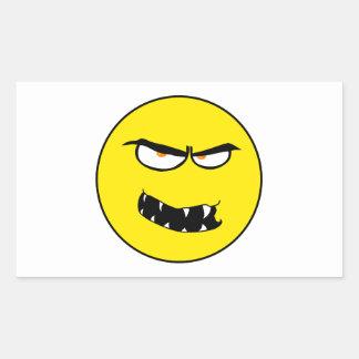Scary Evil Smiley Face Rectangular Sticker