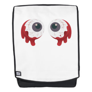 Scary Eye Ball Halloween Eyeballs Freaky Backpack