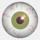 Scary Eyeball Eye Ball Halloween Classic Round Sticker