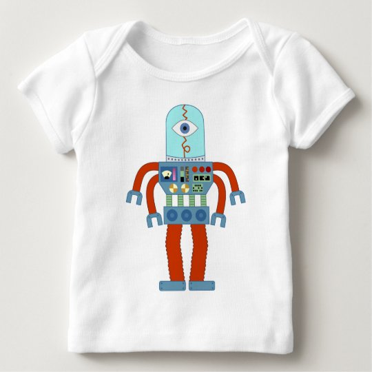 Scary Eyeball Robot Baby T-Shirt