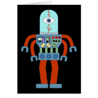 Scary Eyeball Robot Card