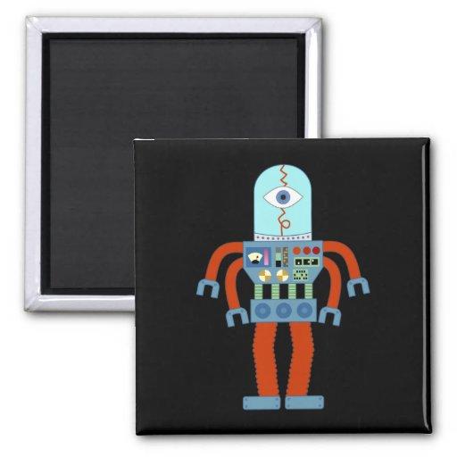 Scary Eyeball Robot Refrigerator Magnet