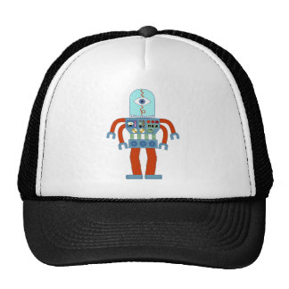 Scary Eyeball Robot Trucker Hat