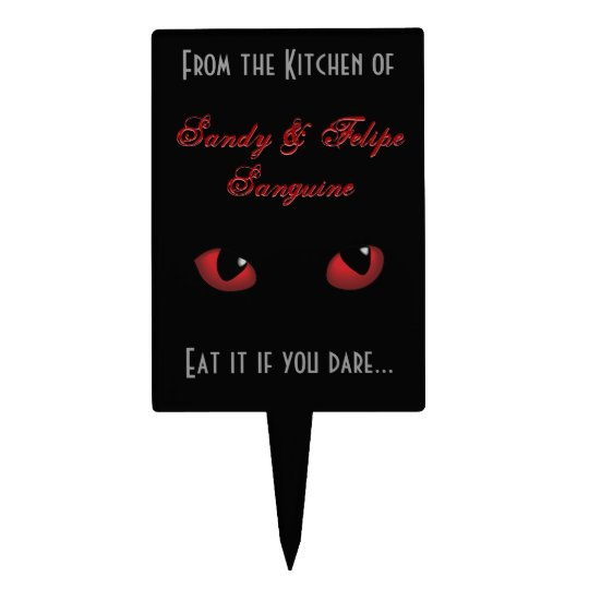 Scary Eyes Eat it if You Dare Halloween Cake Topper