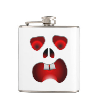 Scary Face Hip Flask