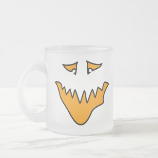 Scary Face. Monster Grin in Orange. Coffee Mug