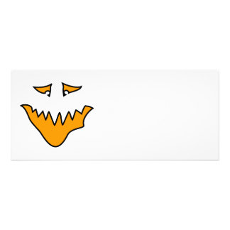 Scary Face. Monster Grin in Orange. Custom Announcement