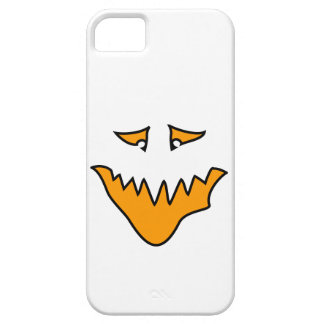 Scary Face. Monster Grin in Orange on White iPhone 5 Cases
