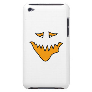 Scary Face. Monster Grin in Orange on White iPod Touch Cover