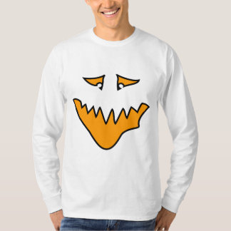 Scary Face. Monster Grin in Orange. T-Shirt