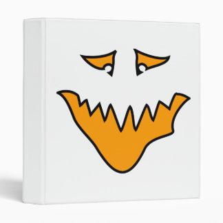 Scary Face. Orange Monster . Binder