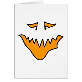 Scary Face. Orange Monster . Card