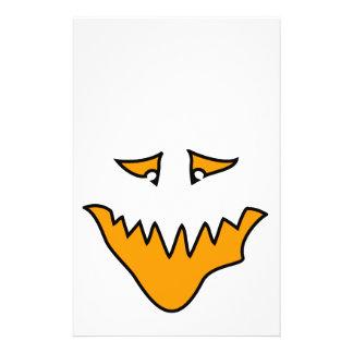 Scary Face. Orange Monster . Full Color Flyer