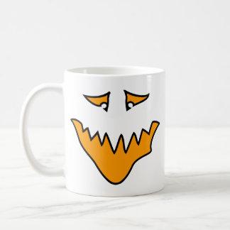 Scary Face. Orange Monster Grin. Coffee Mug