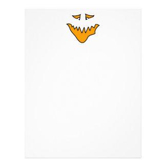 Scary Face. Orange Monster Grin. Custom Letterhead