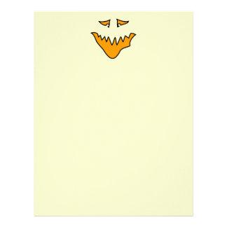 Scary Face. Orange Monster Grin. Letterhead Template