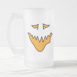 Scary Face. Orange Monster Grin. Mug
